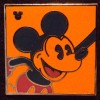 6636 - WDW Hidden Mickey 2010 - Neon Mickey - Orange