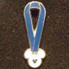 6639 - WDW Hidden Mickey 2010 - Lanyard Series - Blue