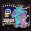 13106 - Japan - Pixar Feature Animation Collection Framed Pin Set - Monster's Inc. (2001)