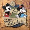14413 - WDW – Love is an Adventure 2017 – Logo Pin – Mickey and Minnie