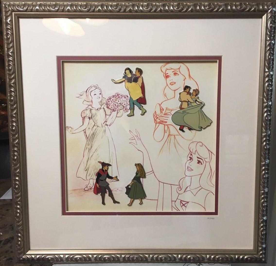 View Pin: Disney Catalog - Prince and Princess Framed Pin Set