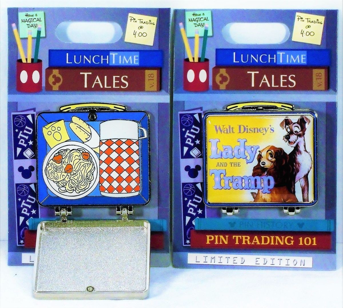 Lunch Time Tales Lady and the Tramp Lunch Box Disney Pin