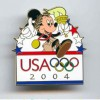 19624 - DLR/WDW - Olympics 2004 - USA Olympic Logo Pin - Mickey Mouse with Torch