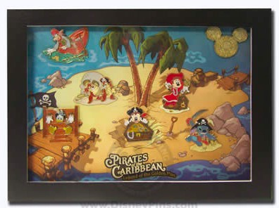 View Pin Pirates Of The Caribbean Golden Mickey Icon Frame Set