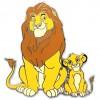 21662 - ACME - Family Portrait 1 - Mufasa and Simba - Silver Version