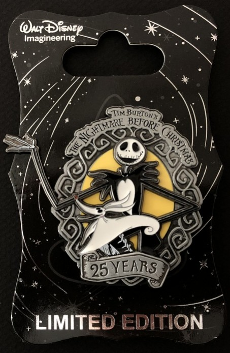 2021 Nightmare Before Christmas Trading Pin View Pin Wdi Nightmare Before Christmas 25th Anniversary Jack Skellington Zero