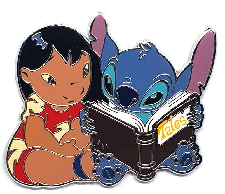 Disney Parks Disneyland Paris Pin Lilo /& Stitch Reading Tales Book DLRP