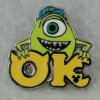 25694 - DLR - 2019 Hidden Mickey Series - Monster's University Greek Letters - Mike OK
