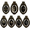 27027 - DLR - The Haunted Mansion 50th Anniversary Event - Oval Plaque Pin Framed Set