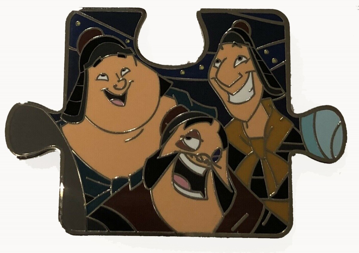 View Pin Character Connection Mystery Collection Mulan Puzzle Yao Ling And Chien Po