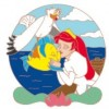29273 - DLR/WDW - The Little Mermaid 30th Anniversary 4-pin Boxed Set - Ariel, Scuttle and Flounder ONLY