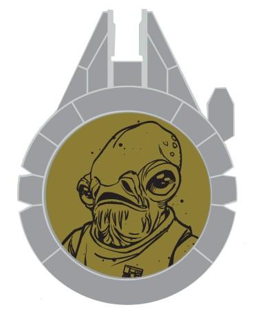 Disney Star Wars Galaxy's Edge Admiral Ackbar Resistance Reveal LE Pin