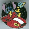 33583 - WDW - Cast Lanyard Collection 4 - Stitch on a Flying Saucer