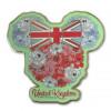 40361 - WDW EPCOT World Showcase 2021 UK Minnie Mouse Flower Union Jack Head