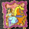 42974 - Disney Pin Gold Card Princesses Horses Jasmine Aladdin LE 1500