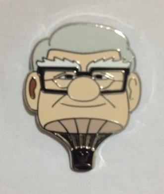 Disney Pin WDW 2014 Hidden Mickey Series *Up Hot Air Balloon* Charles Muntz!